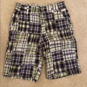 Janie & Jack plaid shorts